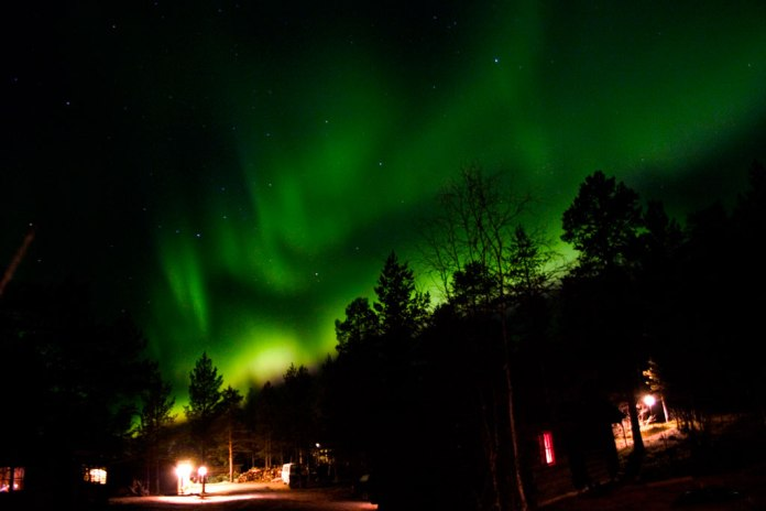 Northern lights in Fin